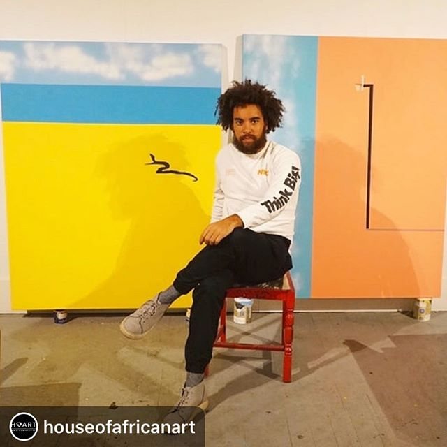 """I'm very excited to be showing some new works this autumn in London with @houseofafricanart 💚✌🏾 . . . Repost @houseofafricanart ・・・ Delighted to announce that Euan Roberts will be part of HAART's upcoming Seeing Sounds exhibition, from Tuesday 1 - Monday 7 October at Copeland Gallery, London. Speaking of the influence of sounds and music on his practice, Euan says: """"To know when a painting is finished and to be confident to let the art breathe is something I get from music. I constantly have music on in the studio in the form of a wide variety of different sounds and genres, and I often craft paintings that evoke the same emotions as a song..."""" For more information on the format for Seeing Sounds, including registration tickets for the live music, talks and poetry performances in the evenings, check the link in our bio - and have an amazing day while you're at it 💪🏽! #HAART #houseofafricanart #euanroberts #euanrobertsart #seeingsounds #contemporaryart #modernart #art #gallery #gallerist #contemporaryafricanart #modernafricanart #africanartist #representationmatters #artlovers #artdealer #artgallery #artgallerist #london"""