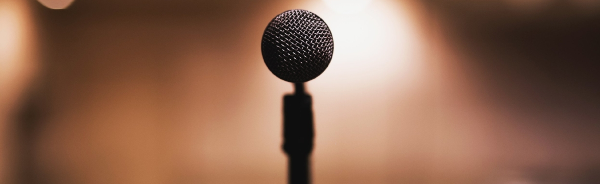 Black microphone  by freestock.org  CC-0
