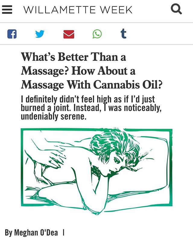 In case you missed it, I was recently written up in the Willamette Week for massage! Feeling proud. Many thanks to @luminousbotanicals and Meghan O'Dea! ⠀⠀⠀⠀⠀⠀⠀⠀⠀ ⠀⠀⠀⠀⠀⠀⠀⠀ #Repost @luminousbotanicals with @make_repost ・・・ Have you ever had a cannabis oil massage? Journalist Meghan O'Dea recently wrote about her experience receiving a massage incorporating Sky Blend of our Universal Cannabis Tonic from Esther Yan, LMT for the @willametteweek. • If you are in Portland and would like to schedule a cannabis oil massage, you can schedule with Esther (@estheryanlmt) through her website at estheryan.com. • https://www.wweek.com/potlander/2019/08/13/whats-better-than-a-massage-how-about-a-massage-with-cannabis-oil/ (Live link in bio for a few days)