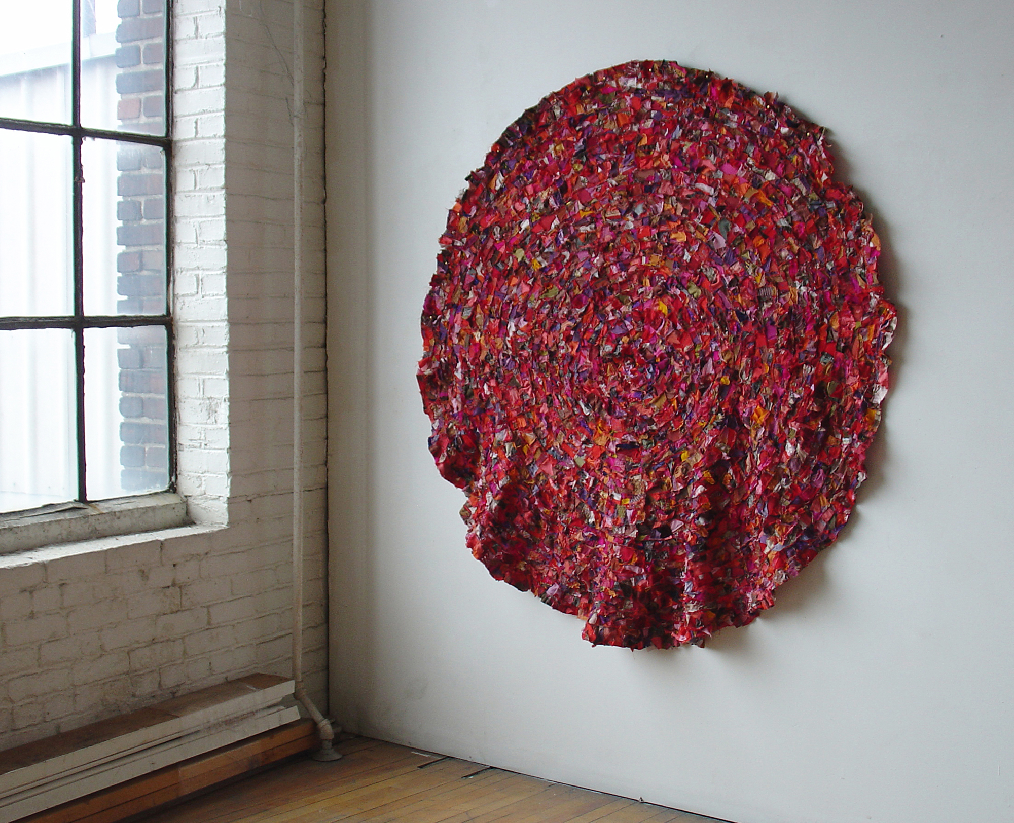 Folded circle ,152 x 152 cm