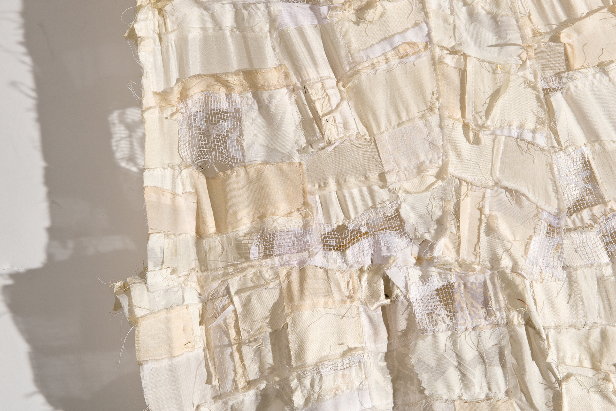 White Rag Quilt , detail