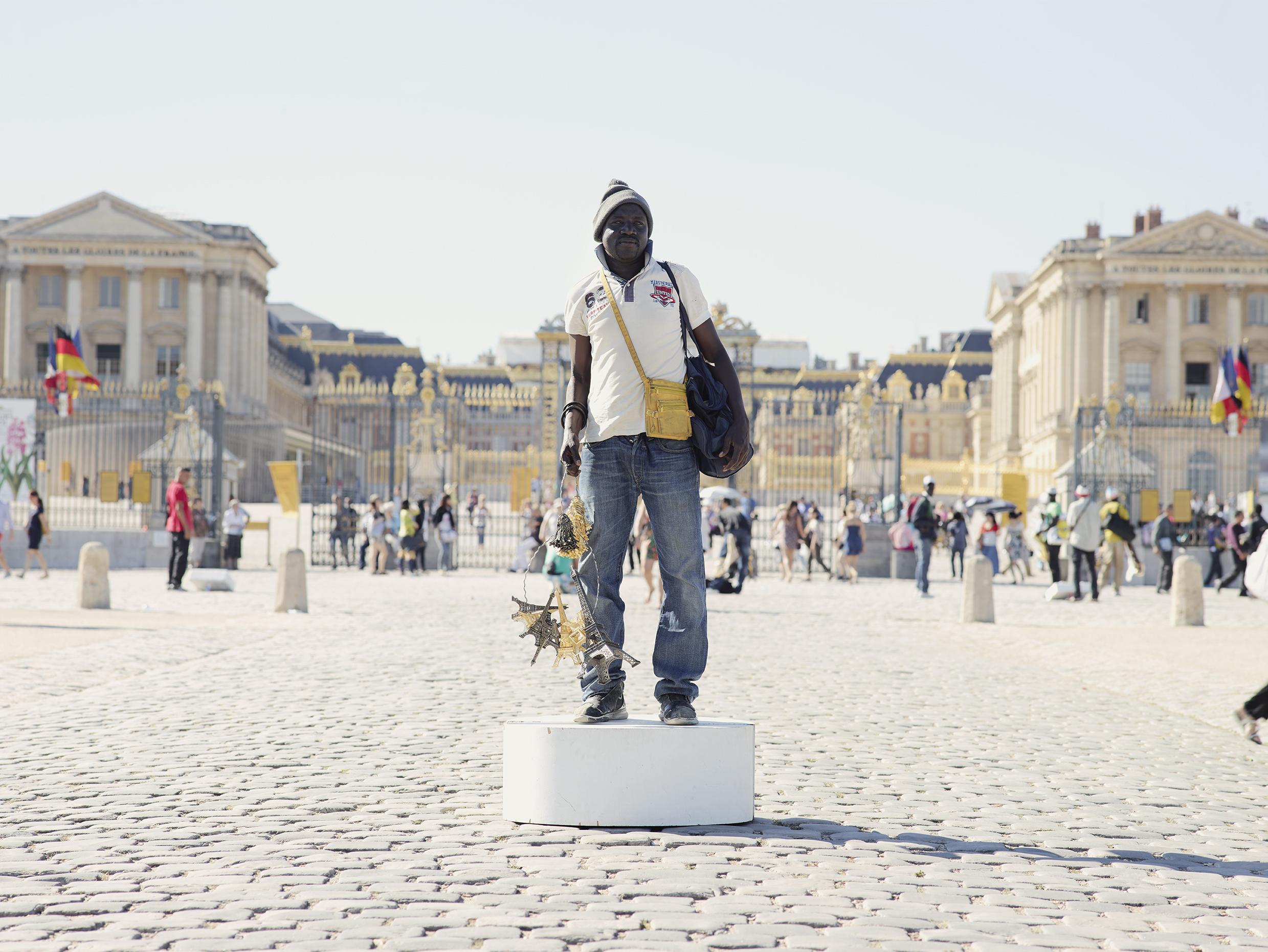 Versailles vendeur à la sauvette.