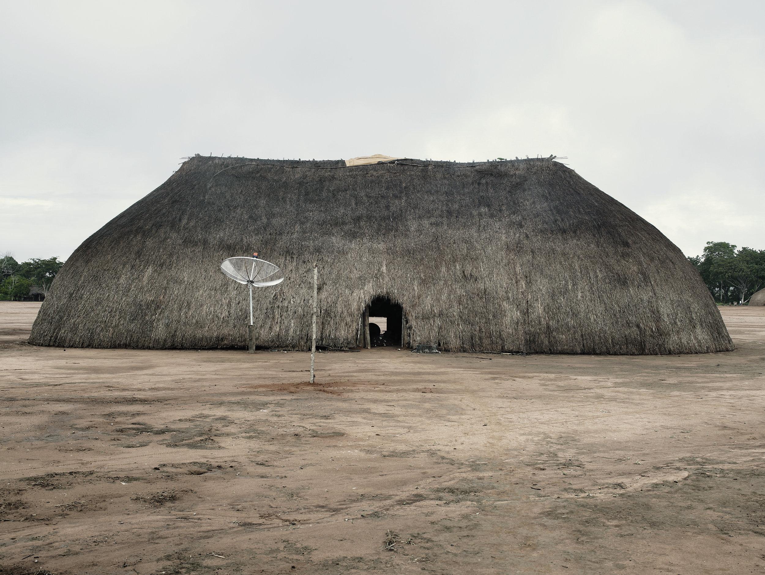Xingu hut, Amazonian forest, Brazil, 2008