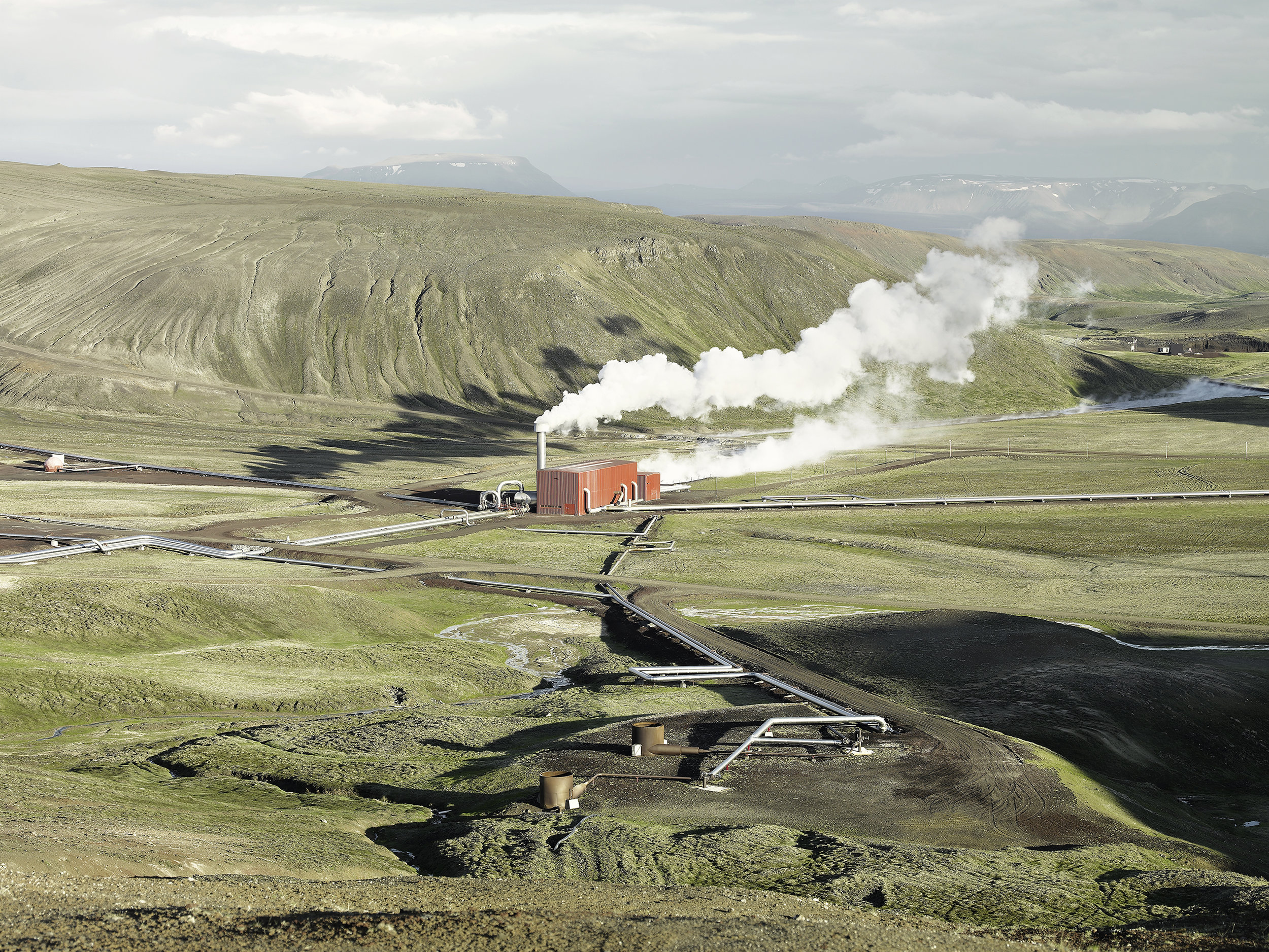 Geothermal plant 1, Iceland, 2007.