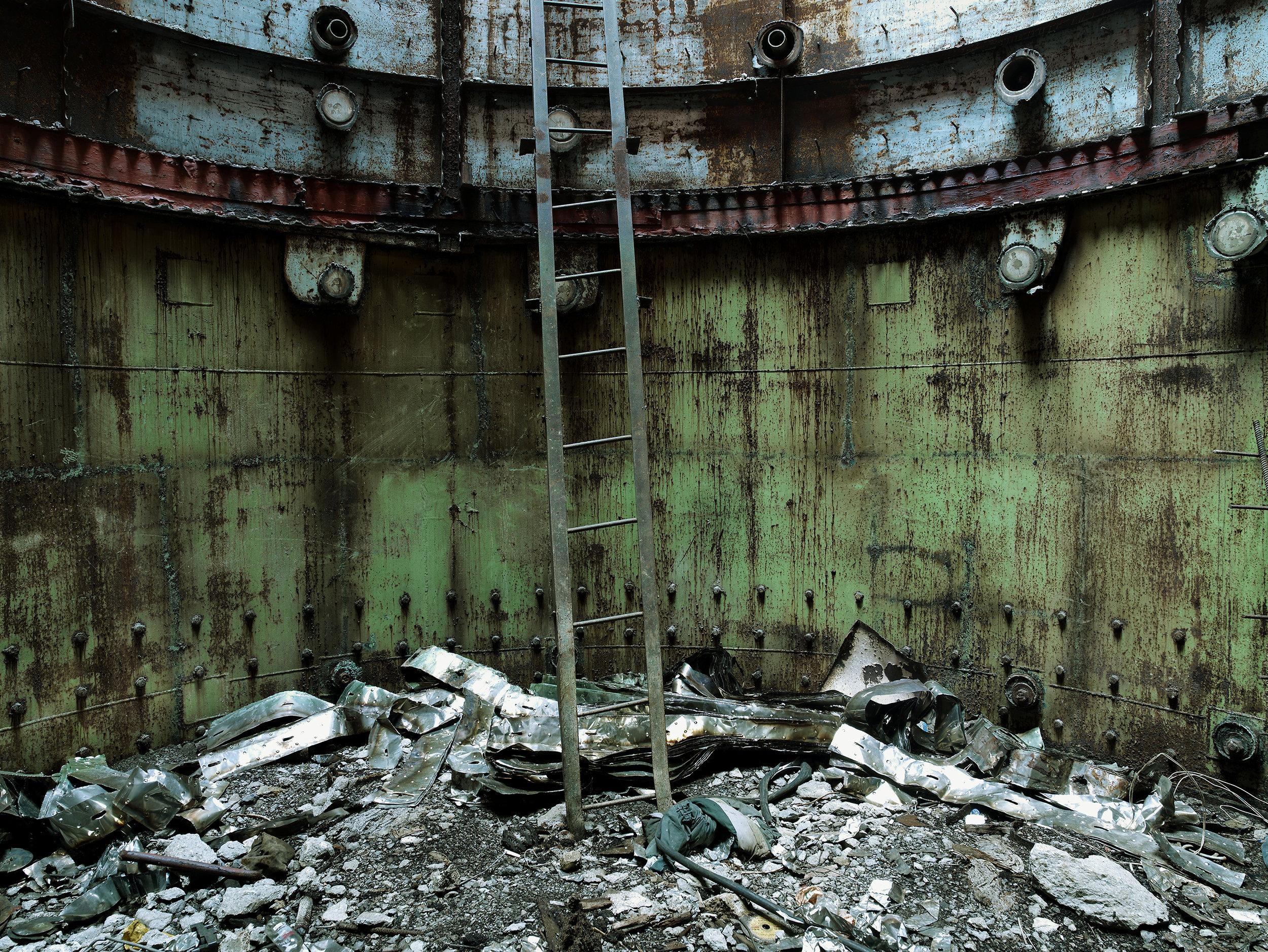 Heart of nuclear reactor, Ukraine, 2007.