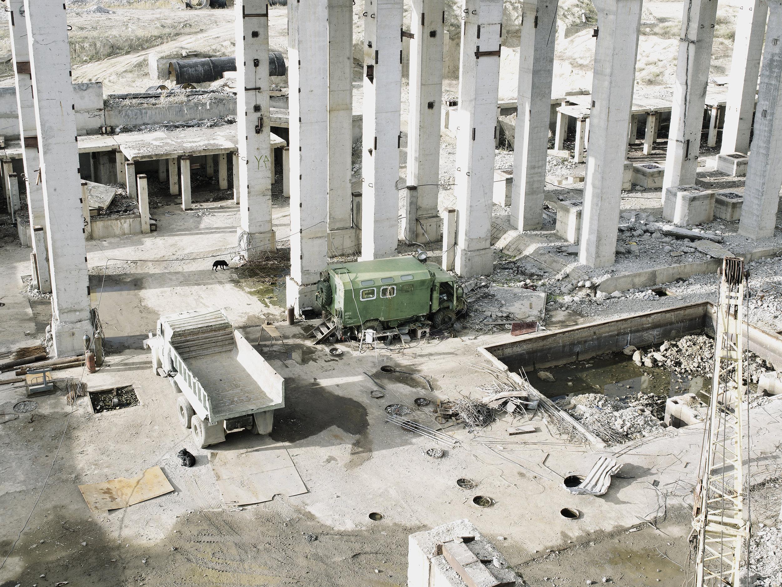 Demolishing a nuclear center 2, Ukraine, 2007.