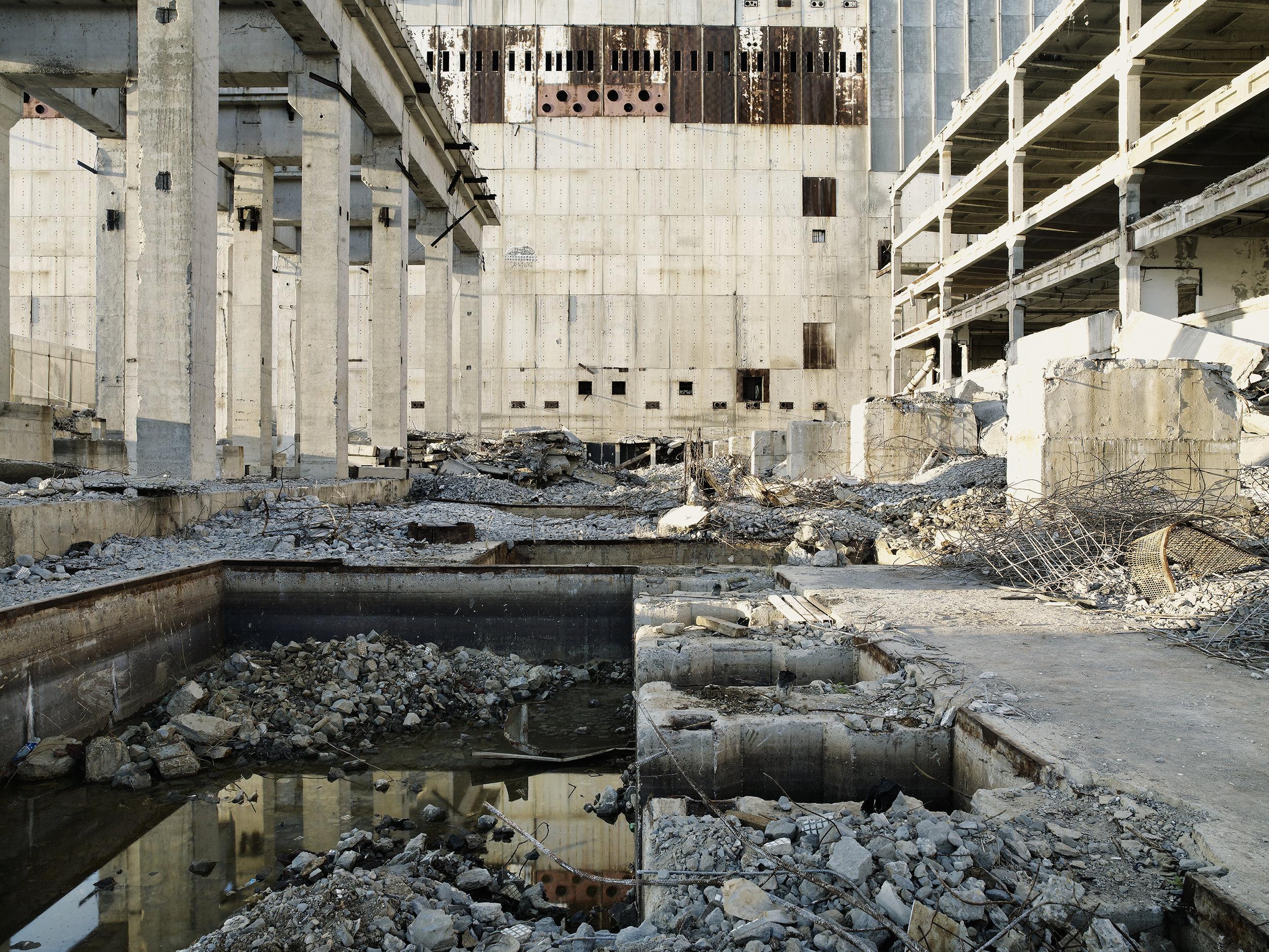 Demolishing a nuclear center 1, Ukraine, 2007.