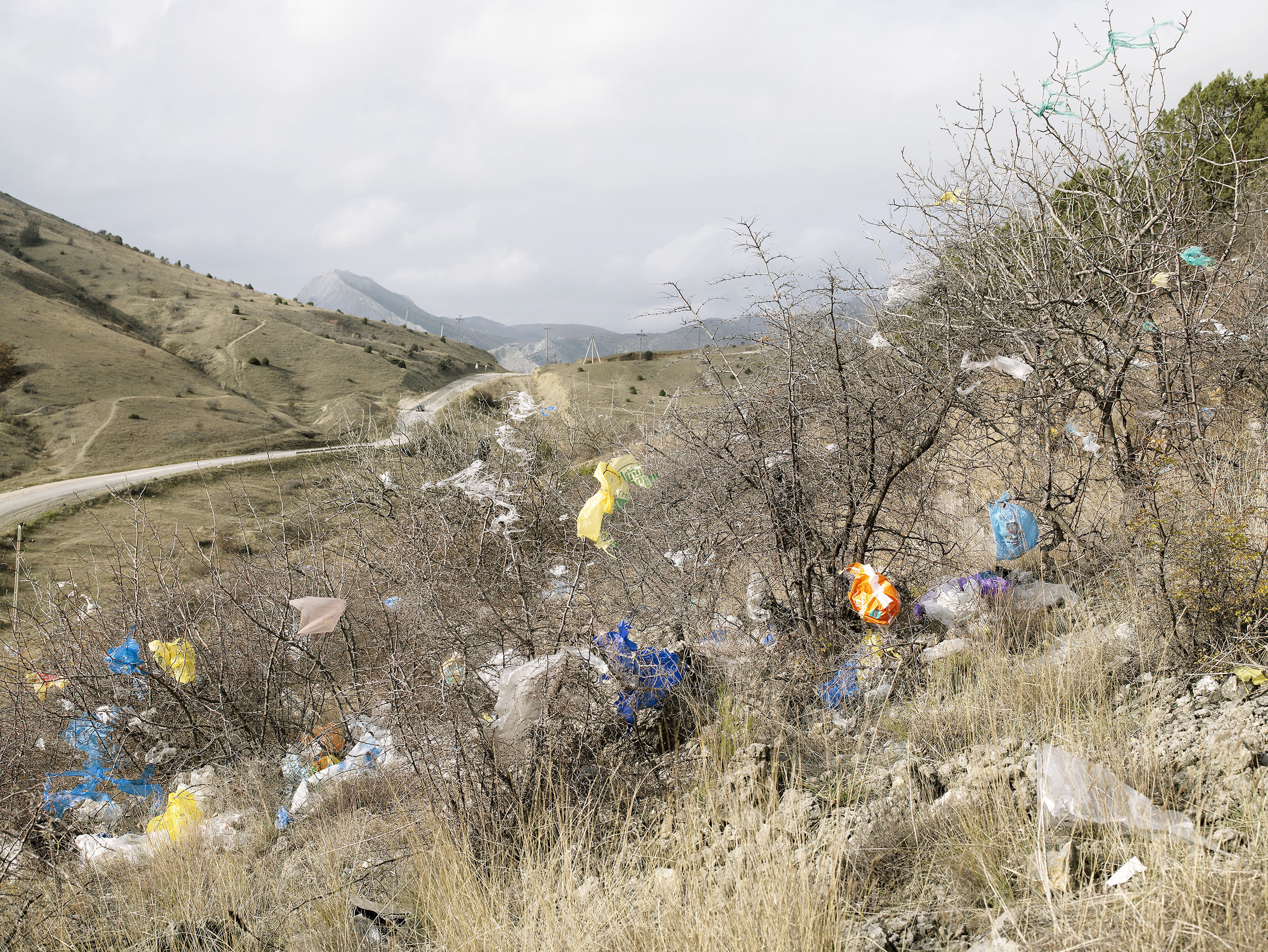 2007 Trash from an open-air dump, Ukraine, 2007.