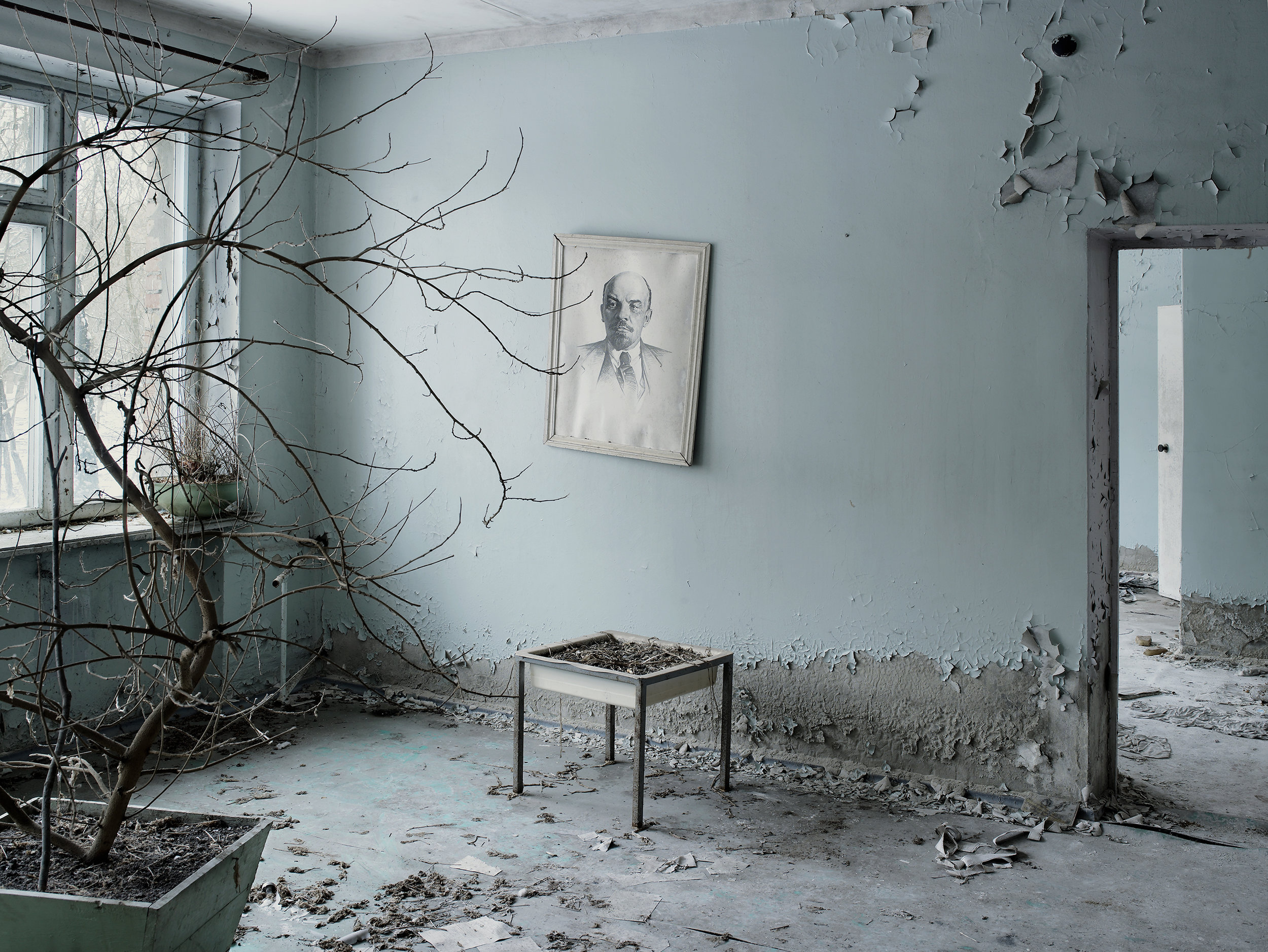 Waiting room, Prypiat, Ukraine, 2007.