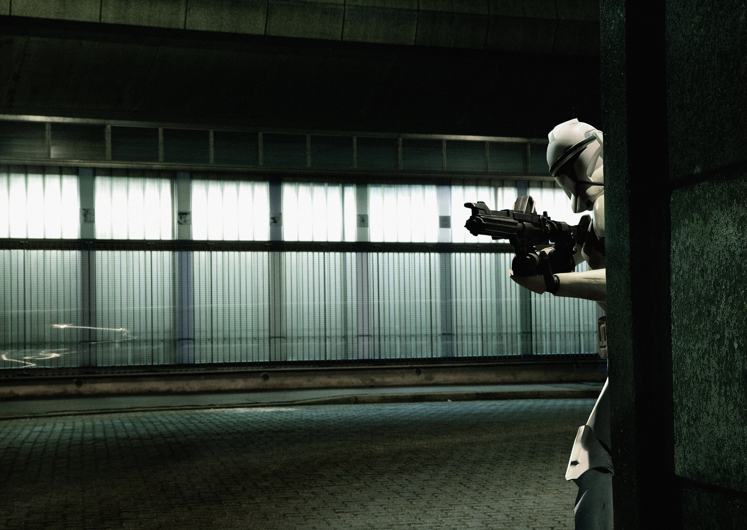 Clonetrooper at Night. 2005