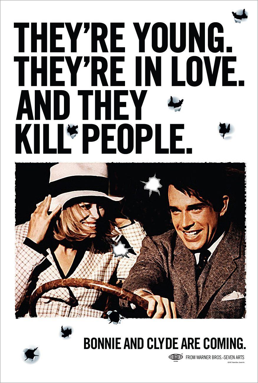 Bonnie Parker og Clyde Barrow, tidenes mest kjente bankranere, romantisert og udødeliggjort på film i 1967. Er det ikke romantisk?