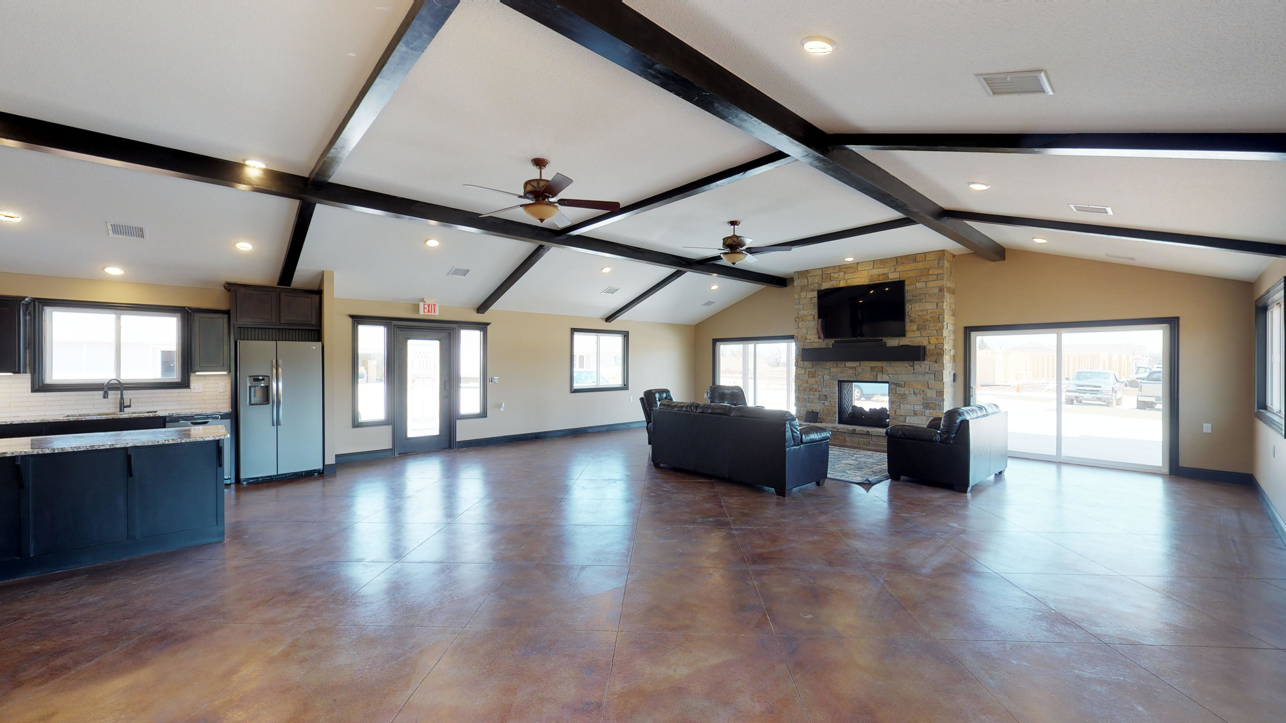 Banquet Hall, Dance Floor, Poker Lounge, Gym!  Everything you need, right where you want it.