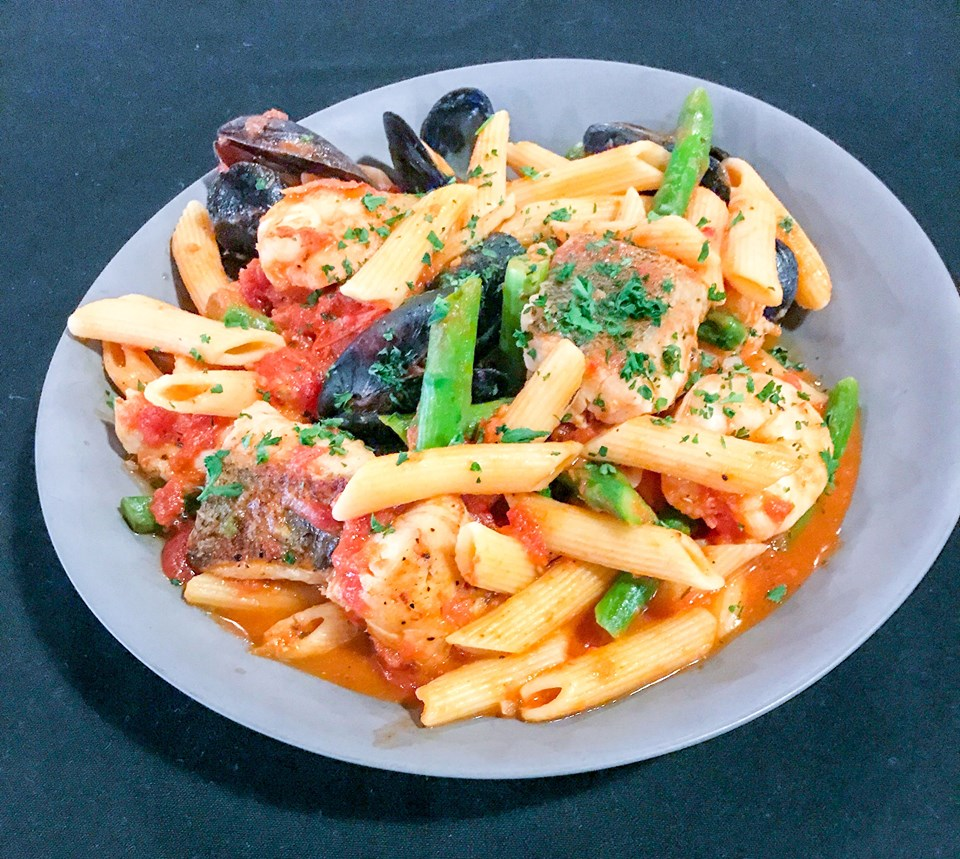 Seafood Penne Pasta at Paterno's at the Park