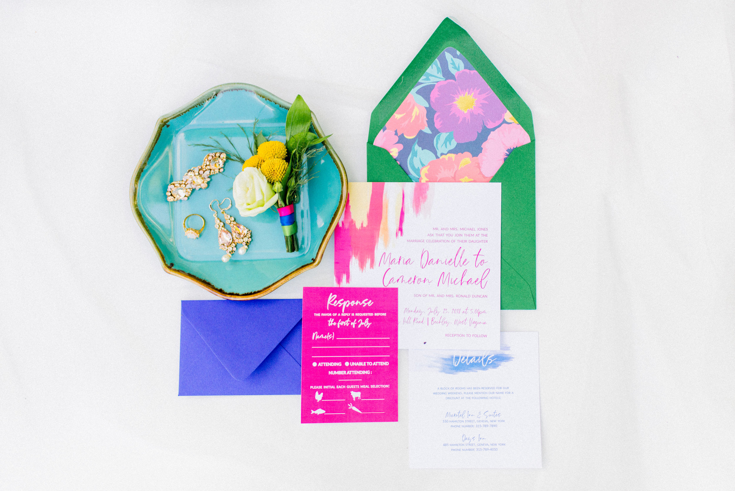 Wedding Stationery Suite Copyright Rock Paper Sisters