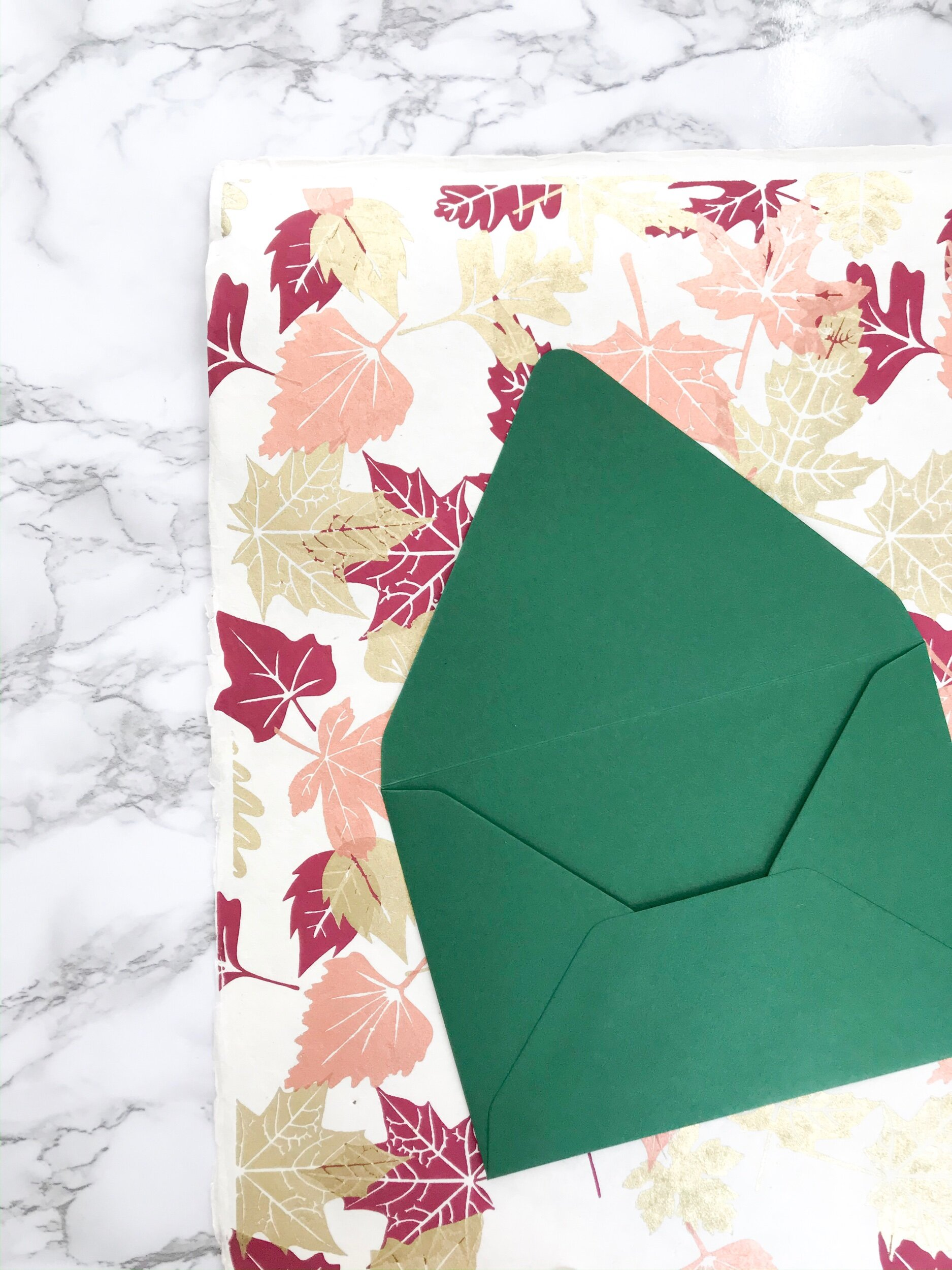 Step One:  Select your envelopes and scrapbook paper choice(s).