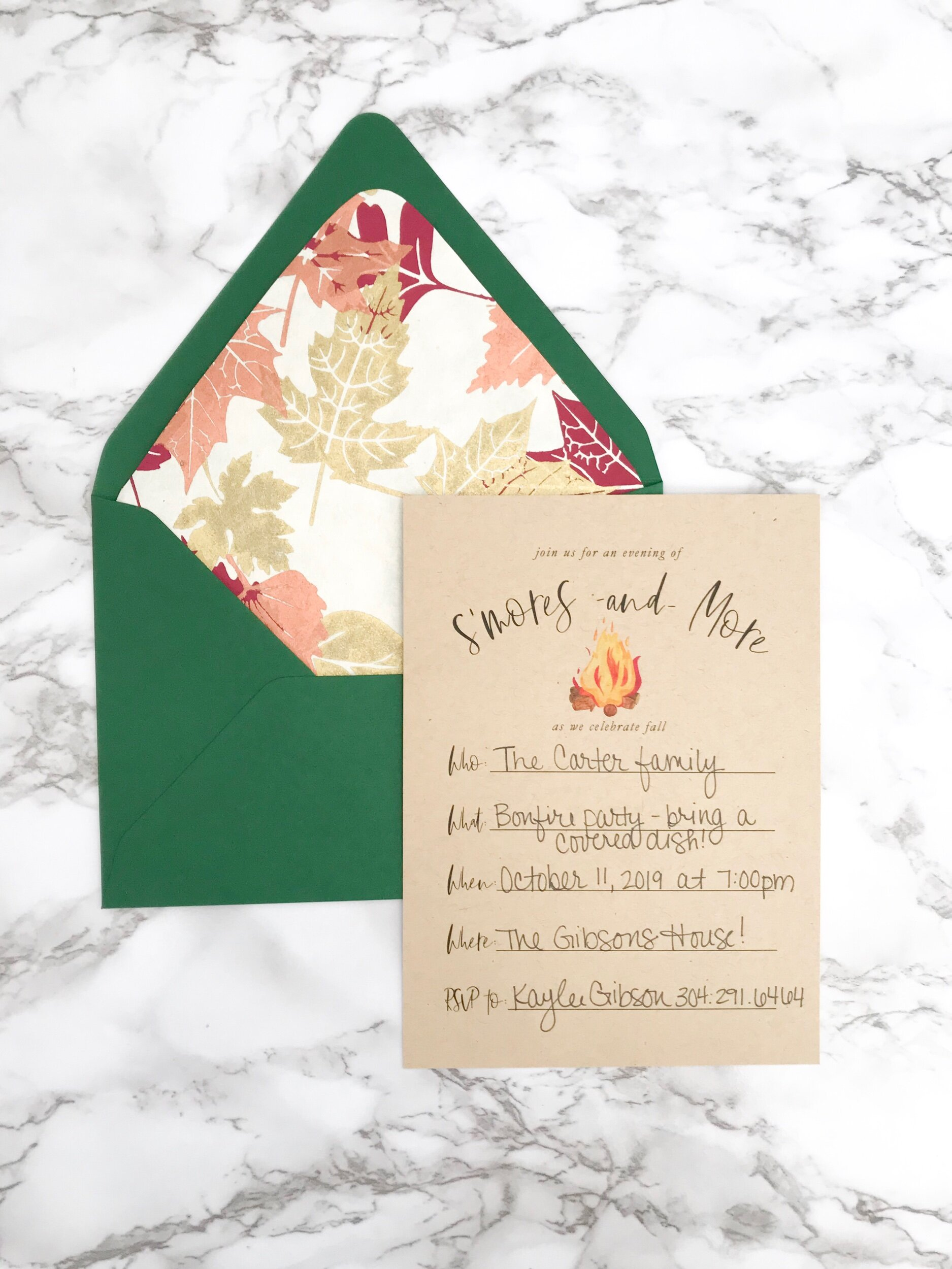 Step Four:  Address and mail to your guests!
