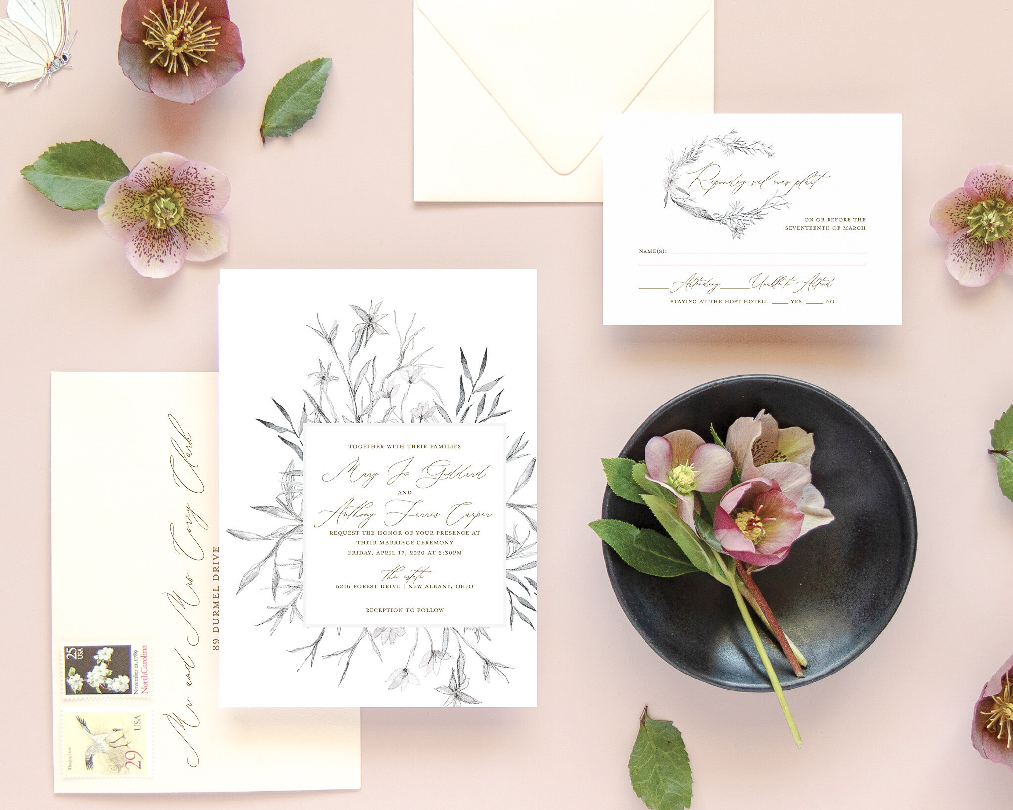 Whimsical Wedding Invitation | The Mary Jo