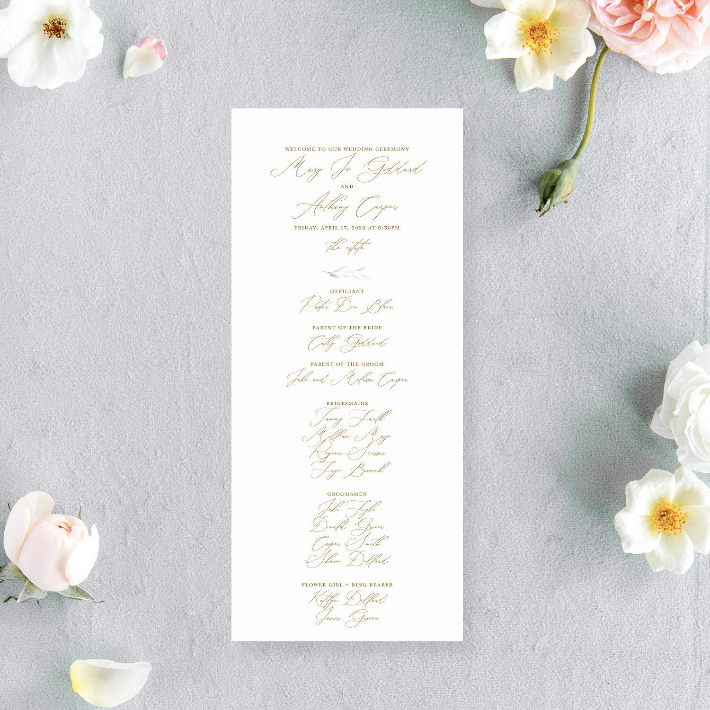 Whimsical Wedding Program | The Mary Jo