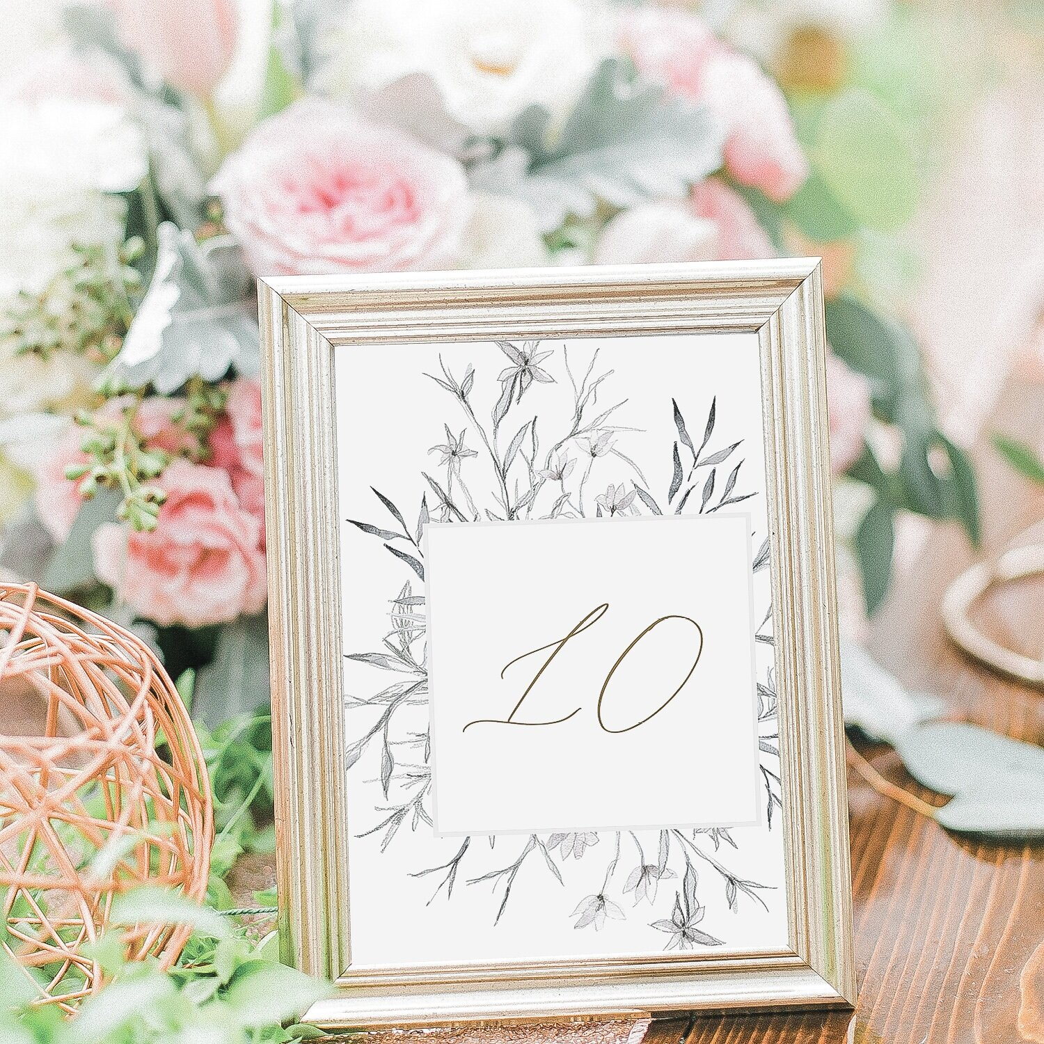 Whimsical Wedding Table Number | The Mary Jo