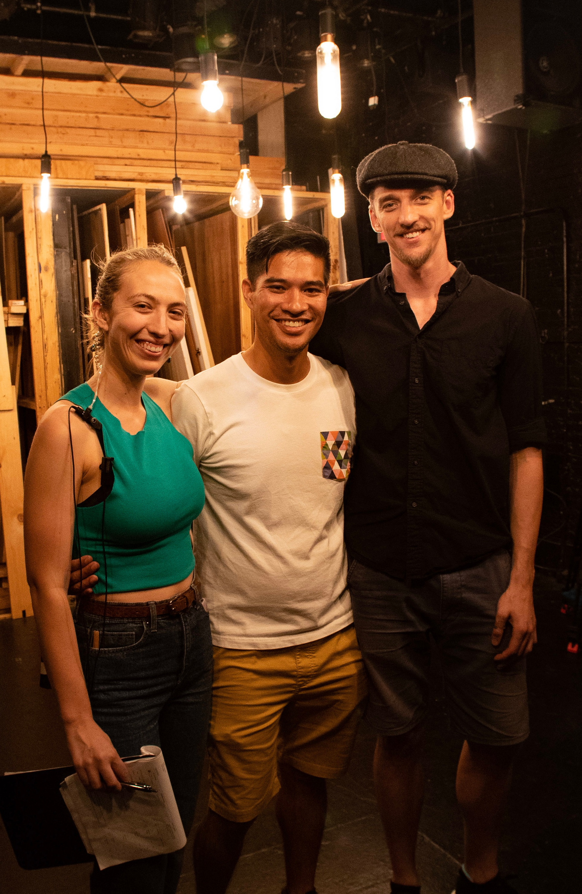 Clea DeCrane, Phillip Nguyen & Brendan Swift on set of their latest project.