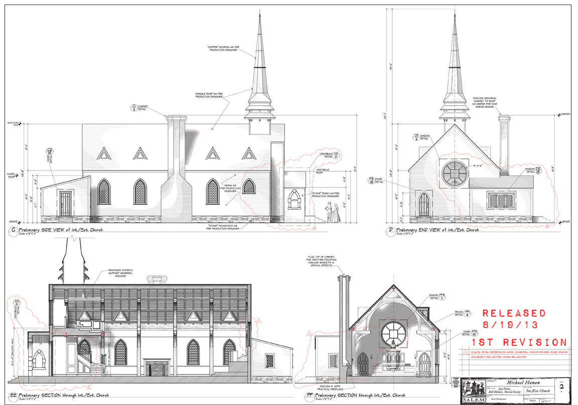 Some of the construction drawings.