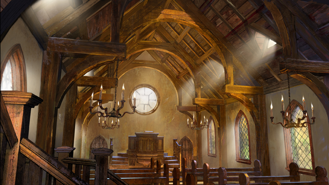 Very simple and stout.I wanted a very heavy look with the timber framing.