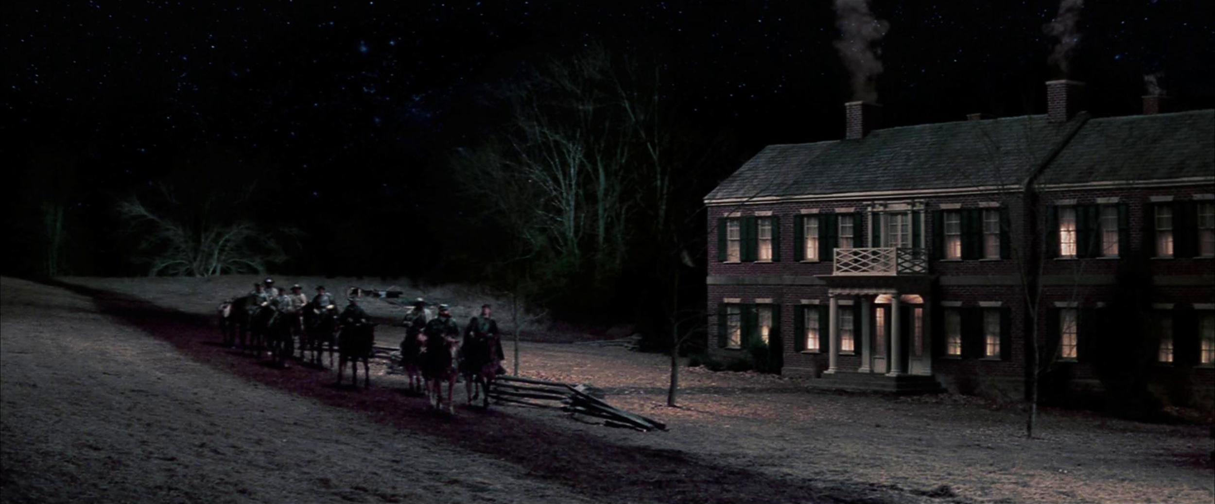 This is the same set at night before the Union Army occupied it. I built this area near several of our battlefields to help consolidate the movie in terms of moving and locations.