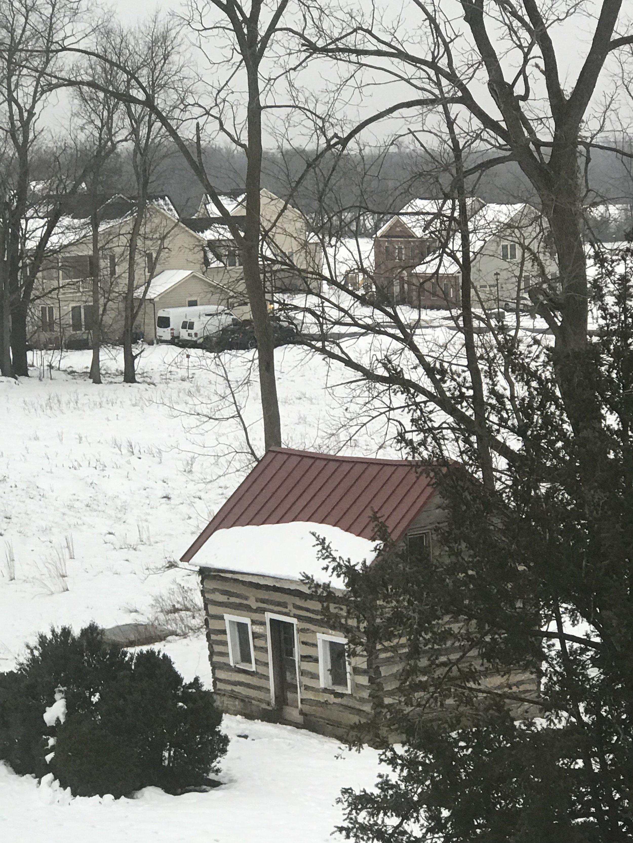 Old servants' quarters, as viewed from my attic room.