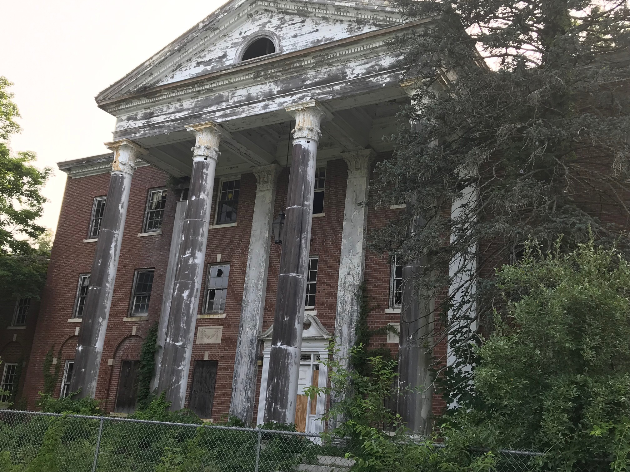 Probably the grandest building in the worst state of neglect.
