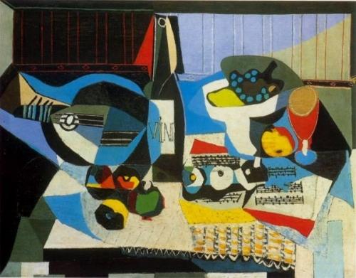 Pablo Picasso, La bouteille de vin, 1925