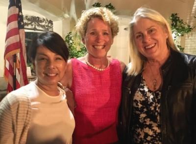 Badass girl gone 50, Chrissy Houlahan (center)