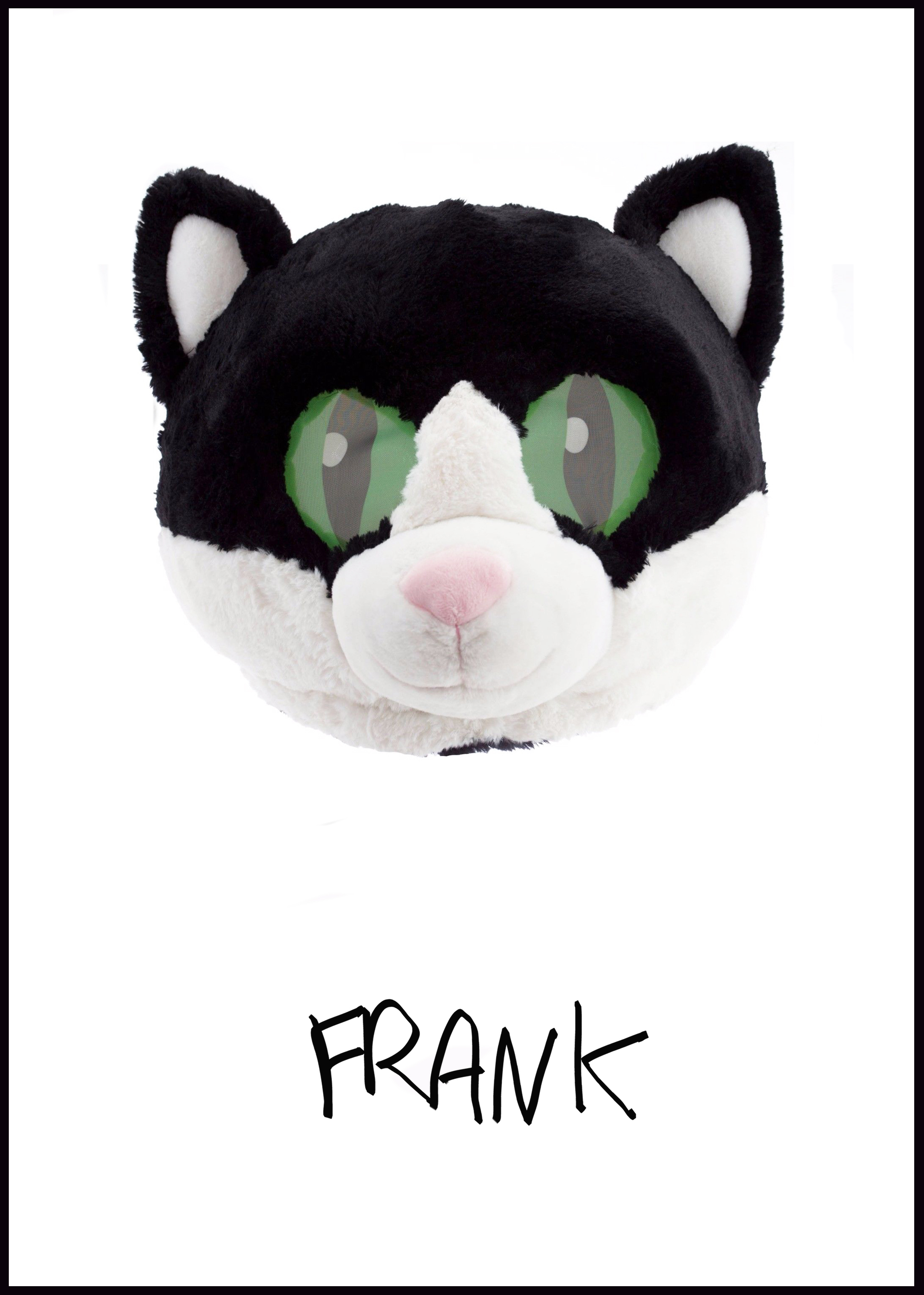 WHO IS FRANK? -  Frank is loveFrank is a bundle of oversized balloons.Frank is your favorite song on repeat.Frank is shy and hides in neon, carpeted rooms.Frank juggles and wears multiple masks.Frank purrs away anxious thoughts.