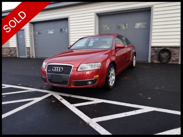 SOLD - 2005 Audi A6 3.2Canyon Red Pearl Effect on TanVIN: WAUDG74F05N061232