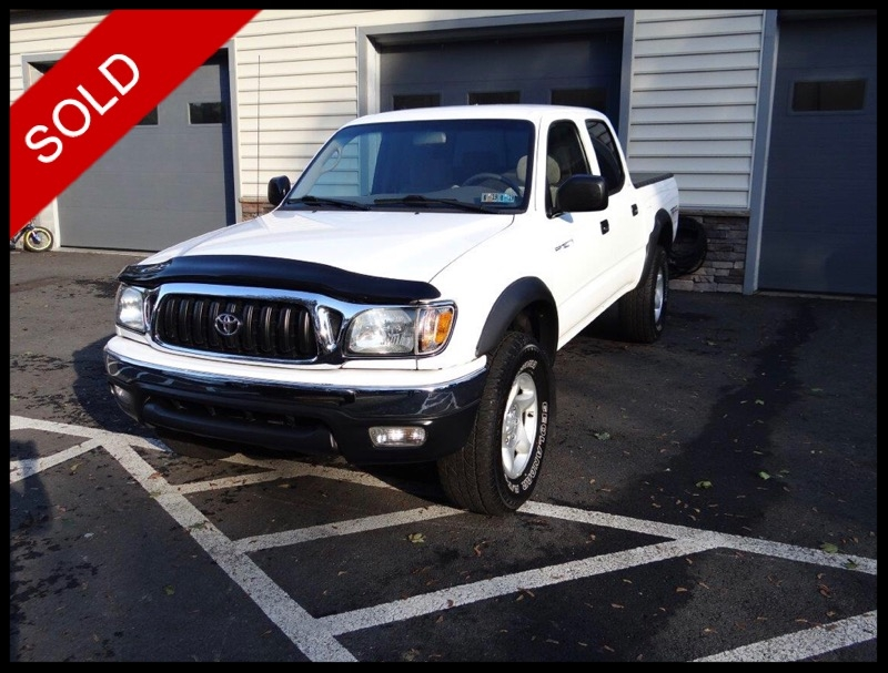 SOLD - 2001 Toyota Tacoma Double Cab TRD off-roadSuper White on TanVIN: 5TEHN72N01Z829402