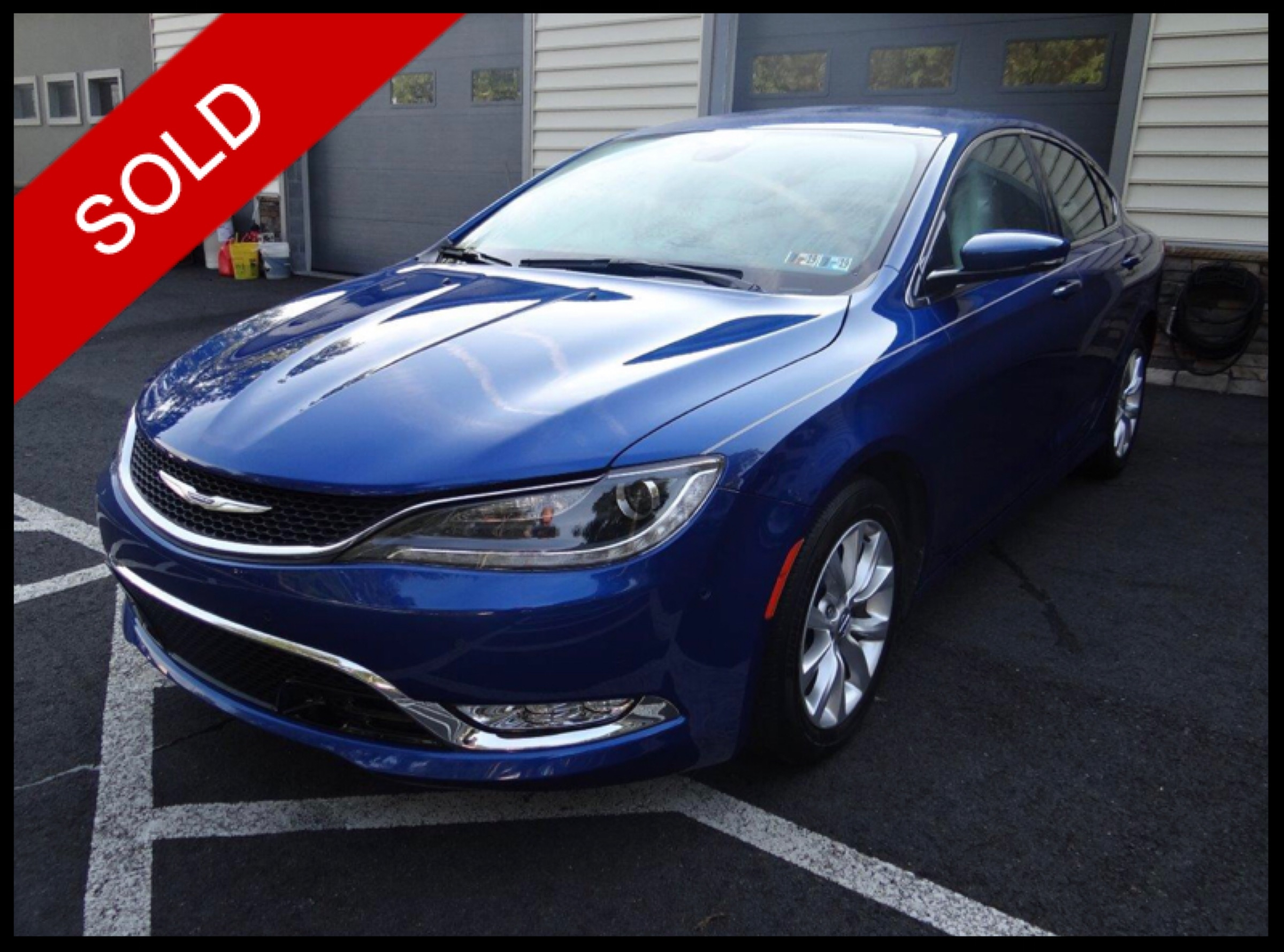 SOLD - 2015 Chrysler 200CVivid Blue Pearl on Black/LinenVIN: 1C3CCCCG9FN581643