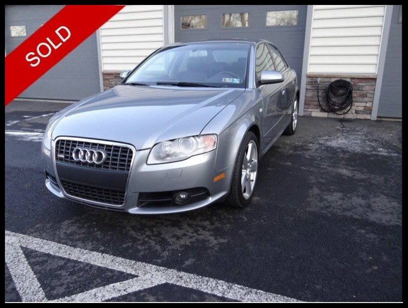 SOLD - 2008 Audi A4 3.2 S-LineDolphin Gray Metallic on BlackVIN: WAUDH78EX8A145178