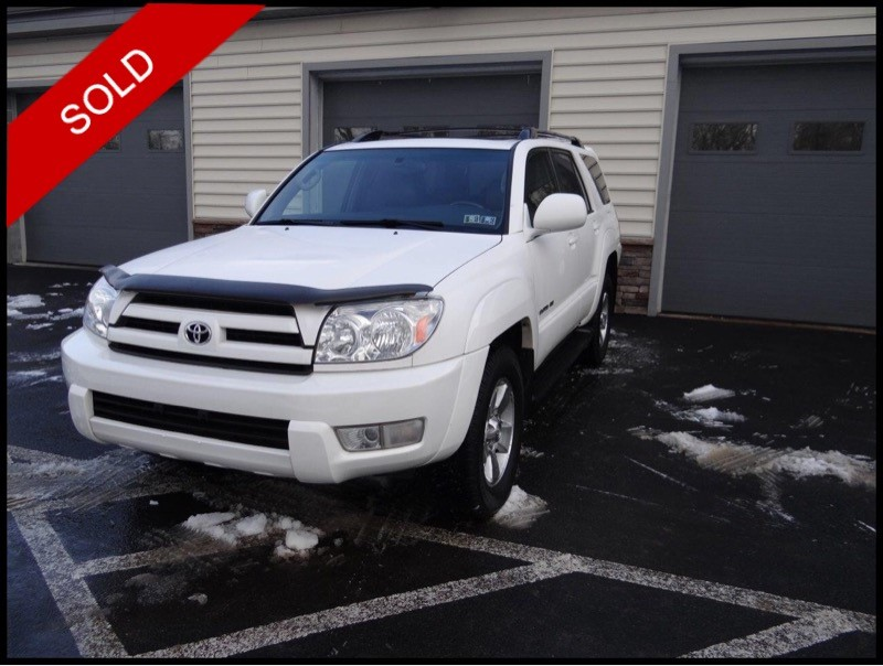 SOLD - Make: ToyotaModel: 4RunnerMileage: 165,067 miExterior Color: Natural WhiteInterior Color: GrayTransmission: AutoEngine: 4.7 LDrivetrain: AWDVIN: JTEBT17R450047299