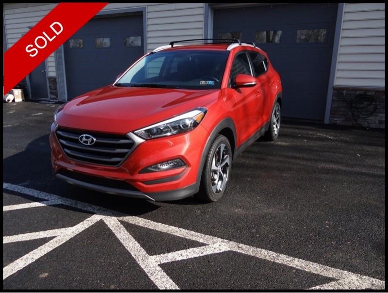 SOLD - Make: HyundaiModel: Tucson SportMileage: 36,857 miExterior Color: Sedona SunsetInterior Color: BlackTransmission: AutoEngine: 1.6 LDrivetrain: AWDVIN: KM8J3CA20GU147222