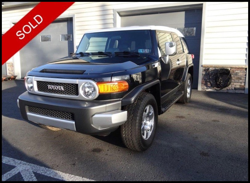 SOLD - Make: ToyotaModel: FJ CruiserMileage: 133,116 miExterior Color: Black DiamondInterior Color: CharcoalTransmission: AutoEngine: 4.0 LDrivetrain: 4x4VIN: JTEBU11F770040023