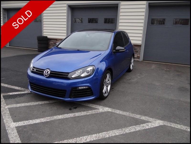 SOLD - 2013 VW Golf RRising Blue on BlackVIN: WVWRF7AJ4DW007025