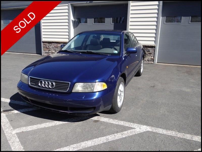SOLD - 1998 Audi A4 QuattroSantorin Blue on Opal GrayVIN: WAUED68D4WA054700
