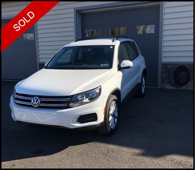 SOLD - 2017 VW Tiguan Limited 4MotionPure White on Charcoal BlackVIN: WVGBV7AX0HK053968