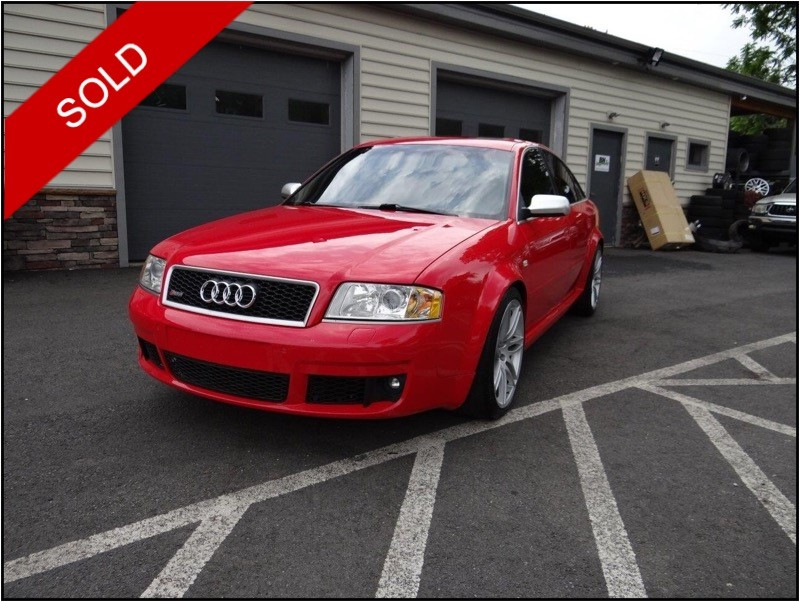SOLD - 2003 Audi RS6Misano Red Pearl on BlackVIN: WUAPV64B23N904649