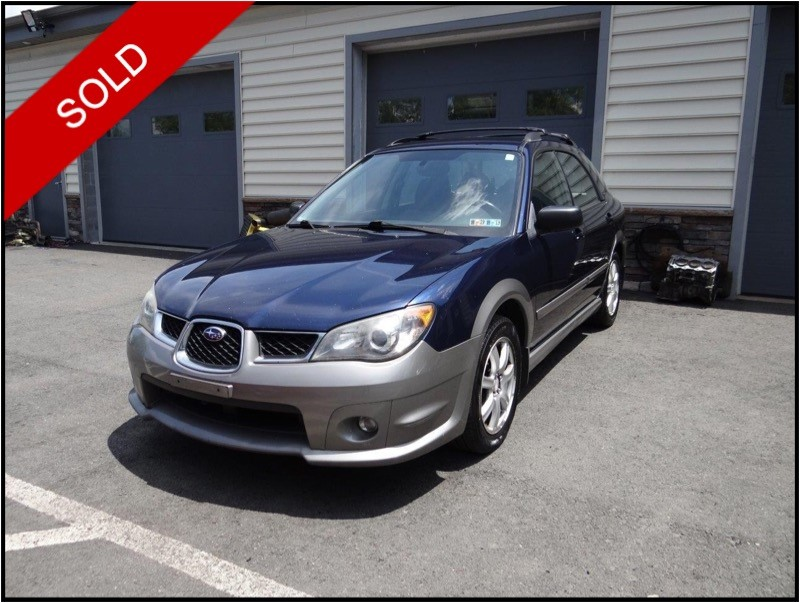 SOLD - 2006 Subaru Impreza Outback SportRegal Blue Pearl on Blue/GreyVIN: JF1GG68676G801584