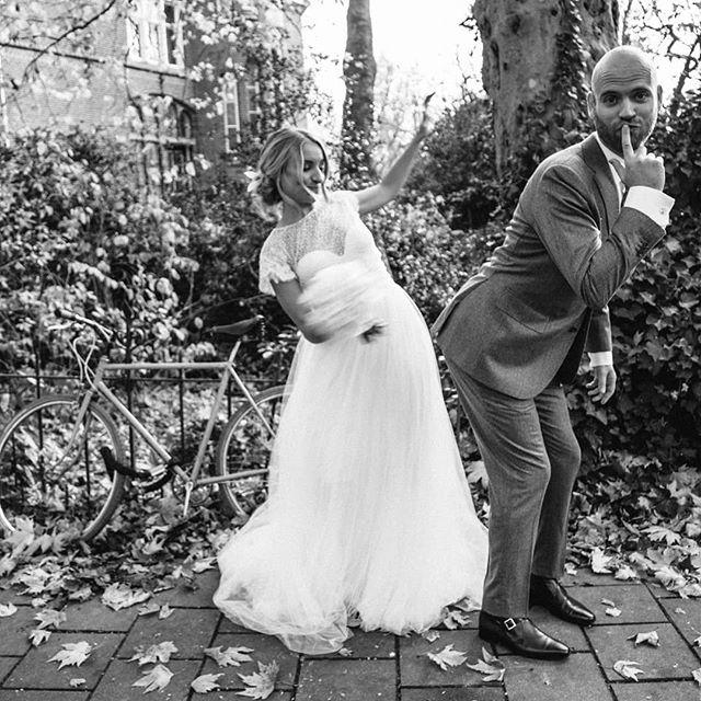 Already two years ago, time flies! #amsterdamwedding #timeflies #takemeback #loveyou #amsterdambikes #winterwedding