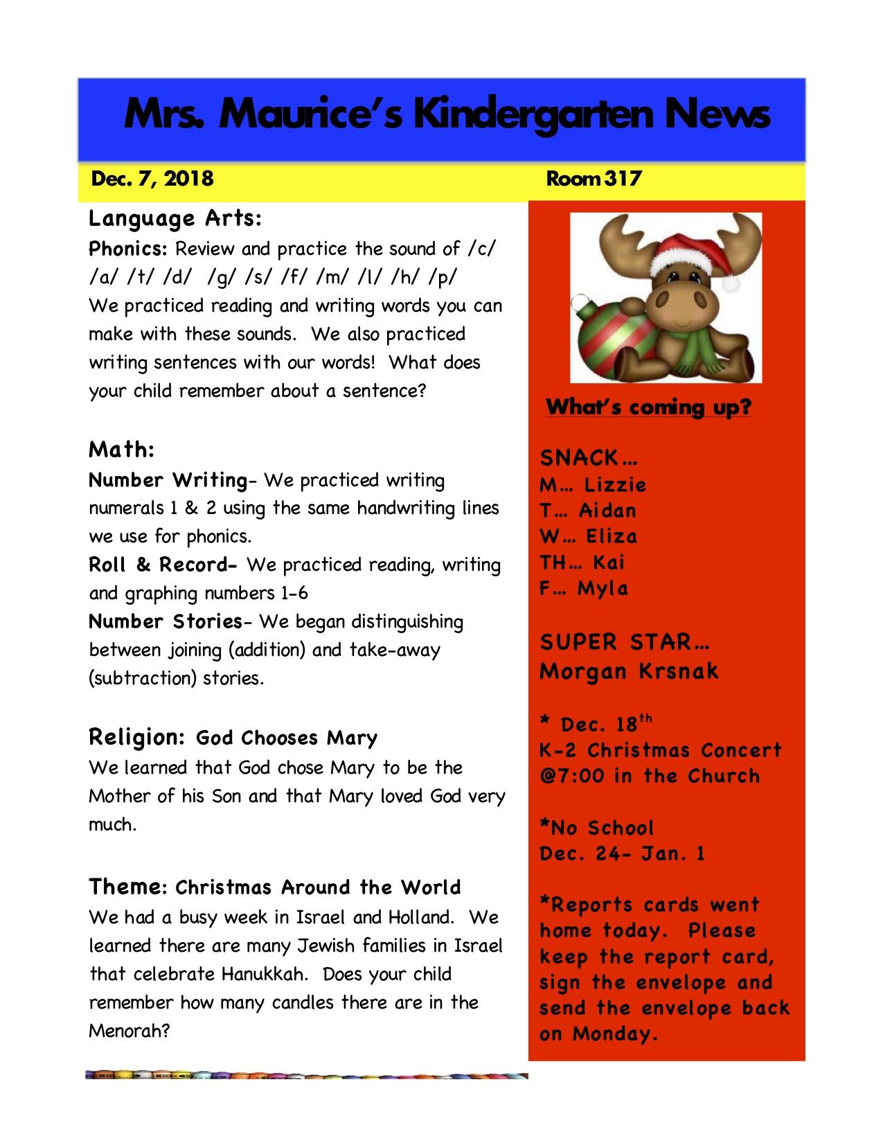 Kindergarten News Dec. 7th.jpg