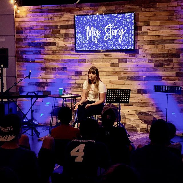 Tonight at My Story we heard from Sarah, one of our high school girl community group leaders. Her story is such an example of how the Lord can use a broken past to glorify Himself! She also shared her life verse. A life verse is a verse from the Bible that speaks to your life, a verse that you go to time and time again to refocus on the Lord. Her life verse is Psalms 31:20 because it reminds her of her purpose as a follower of Jesus and it gives her life circumstances perspective. What is your life verse?