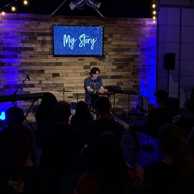 Heard from Reyn Tull at our last 'My Story'! Reyn is one of our middle school boy community group leaders. Reyn's Story is an amazing example of how the enemy is seeking to destroy us though how we think of ourselves.