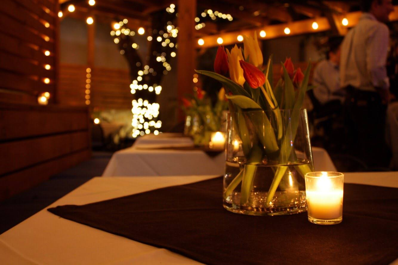 Romantic setting that is perfect for a Valentine's Date-Night!