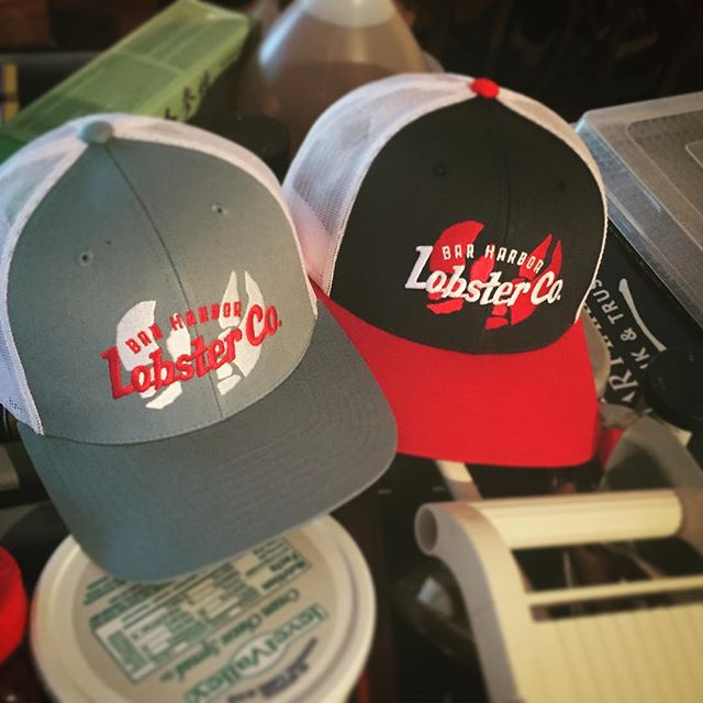 Getting geared up for BluesFest this weekend when @todericocreative drops off the killer new lids! Come see us for a lobster roll in Rockland! #northatlanticbluesfestival #rocklandmaine #rocklandbluesfestival #bhlobster #maine #barharbormaine #lobsterroll #lobster #newhat